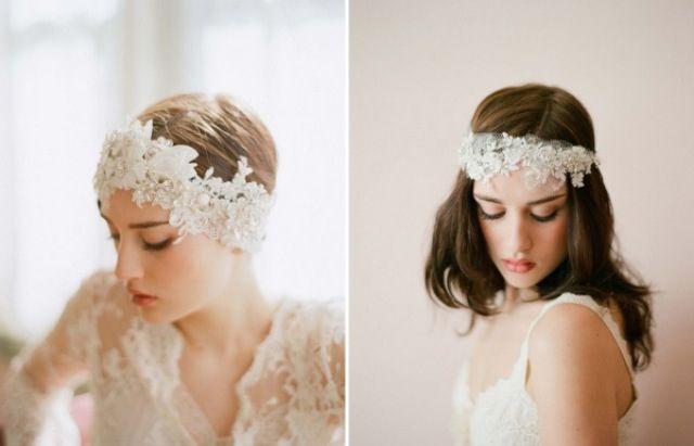 Vintage Stirnband Braut  Frisuren, Haarschmuck, Schleier  Pinterest