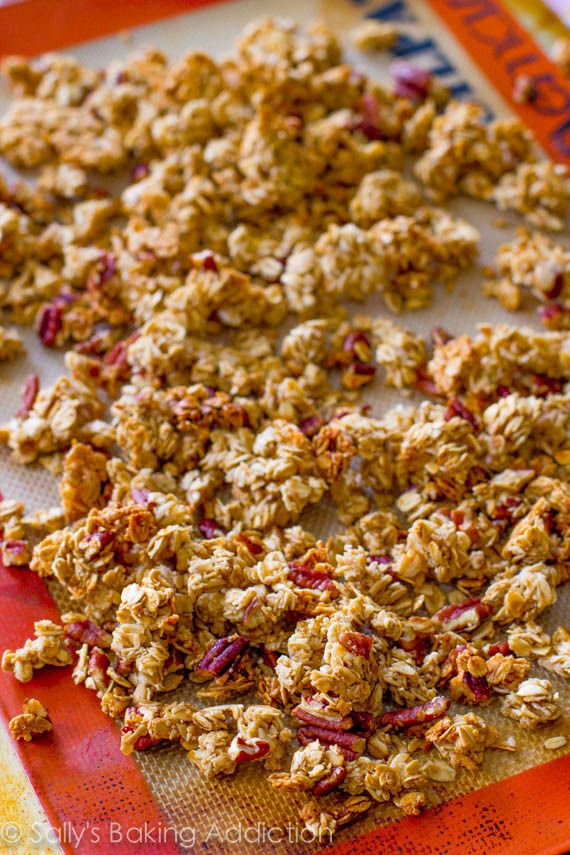 Maple Pecan Pie Granola by Sally's Baking Addiction