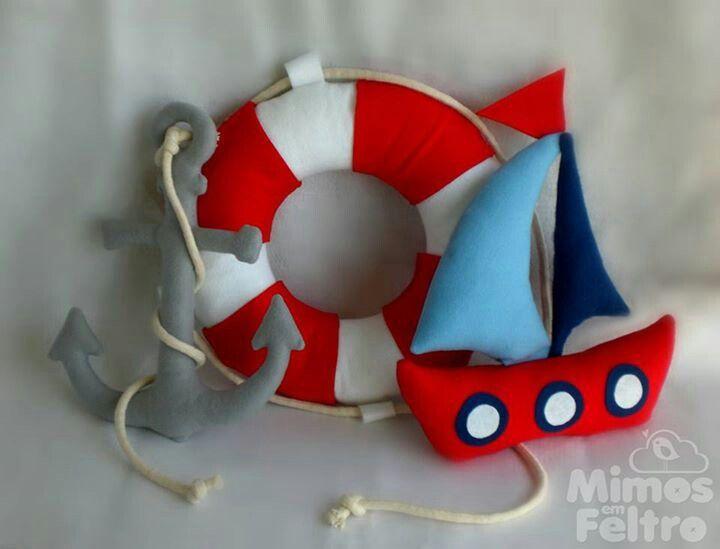 Detalles marineros con fieltro y m s cosicas pinterest - Detalles de fieltro ...