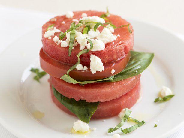 Tomato And Watermelon Salad With Feta Cheese Recipe — Dishmaps