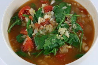 CrockPot White Bean with Fennel and Spinach Soup Recipe