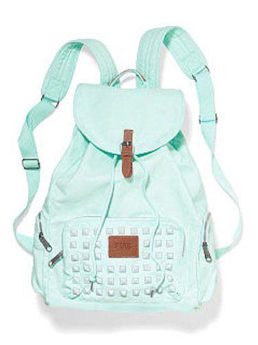 Victoria's Secret Pink Studded Backpack School Bag Mint + Bonus vs ...