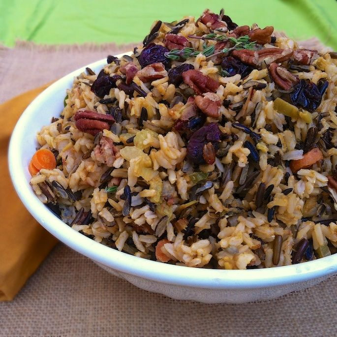... . Wild Rice Stuffing with Dried Cherries & Pecans Teaspoonofspice.com