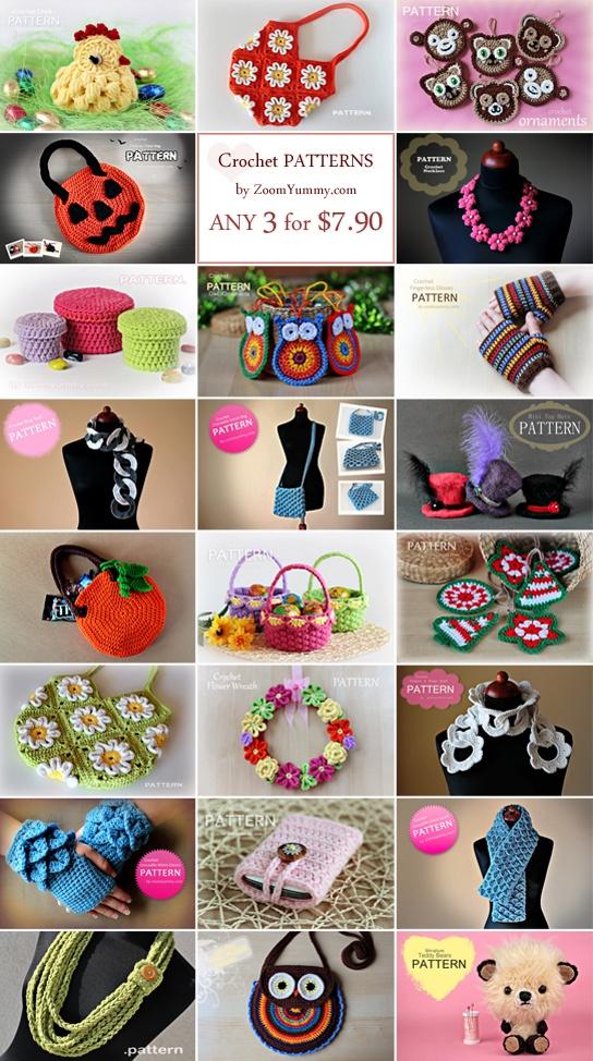 crochet patterns by ZoomYummy