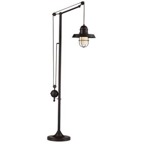 dimond farmhouse oiled bronze floor lamp. Black Bedroom Furniture Sets. Home Design Ideas