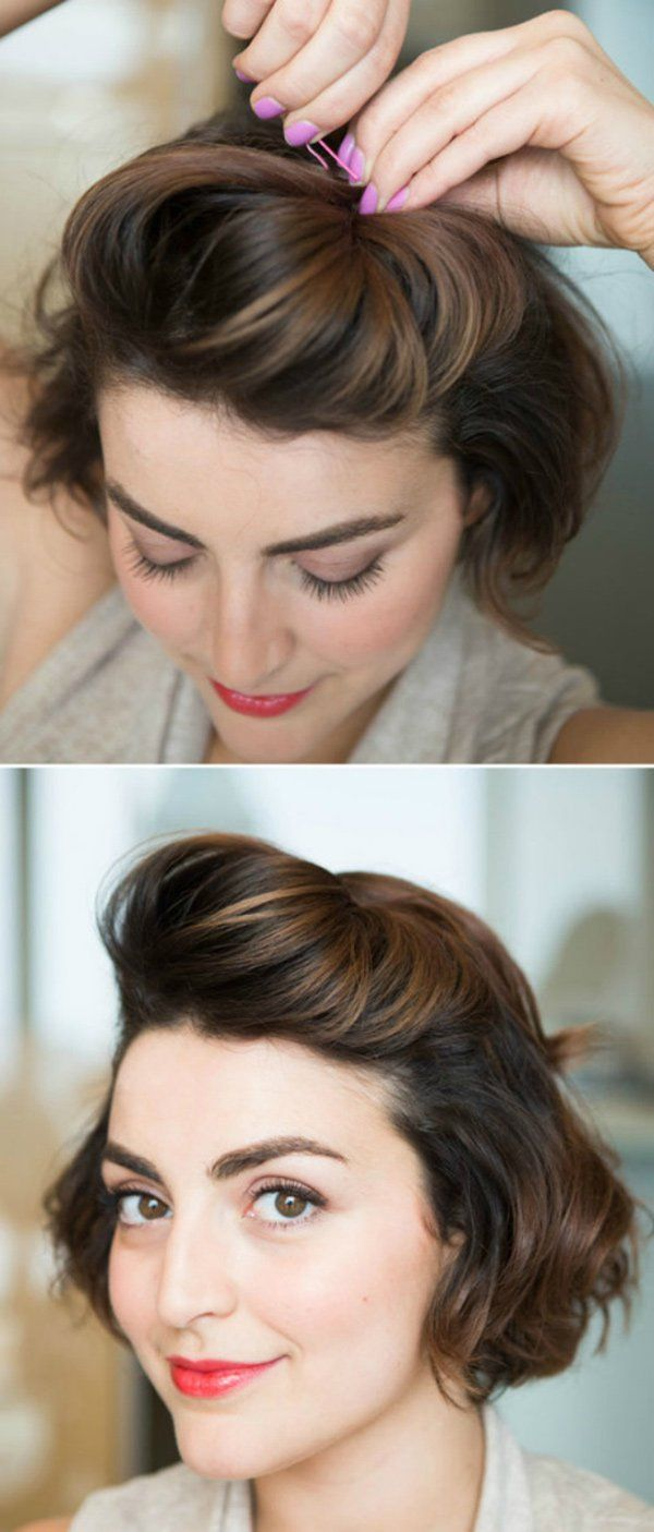 Собрать короткие волосы в прическу