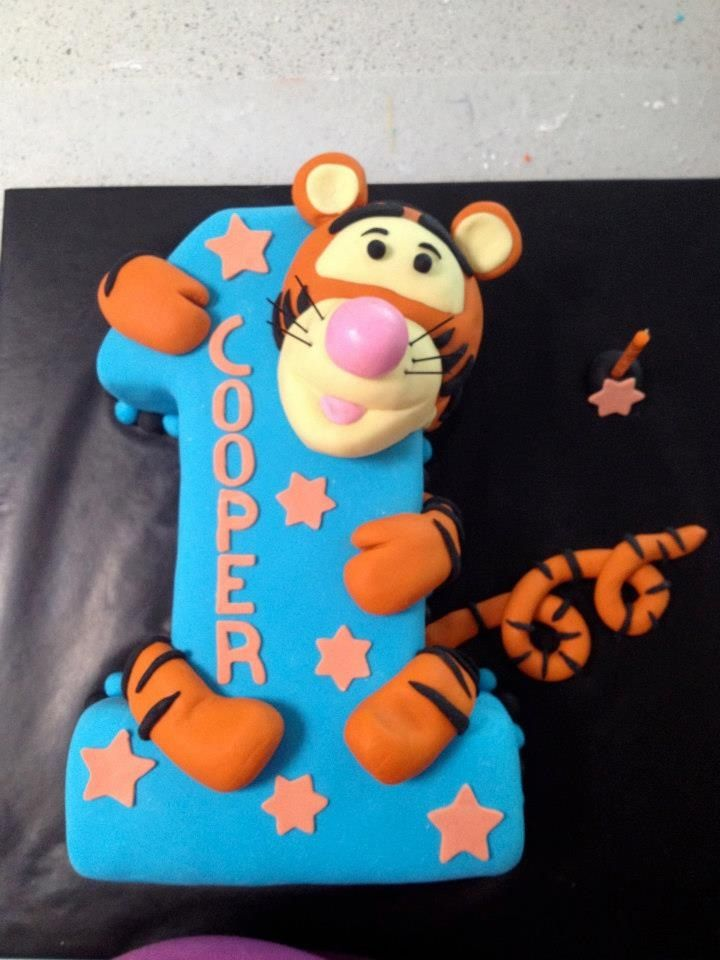 Tigger Cake by Happy Cakes on Facebook.