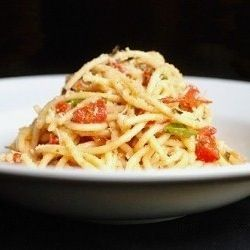 Pasta with Baked Tomato Sauce. Ridiculously easy and amazingly ...