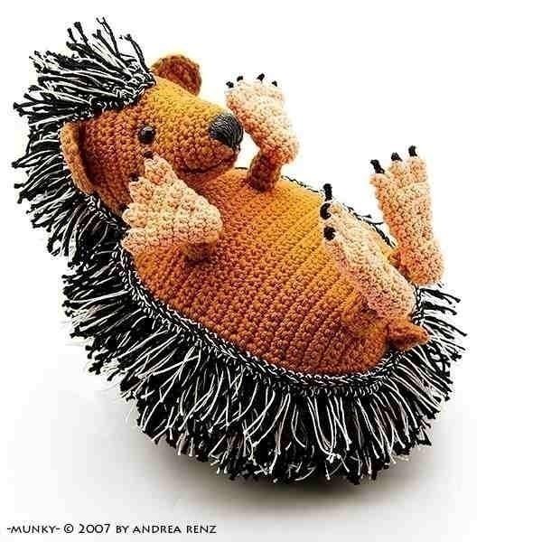 Amigurumi Hedgehog : hedgehog Munky PDF crochet pattern