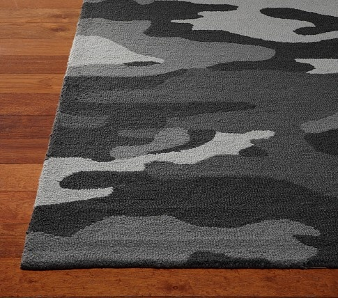 camo rug pottery barn boy bedroom
