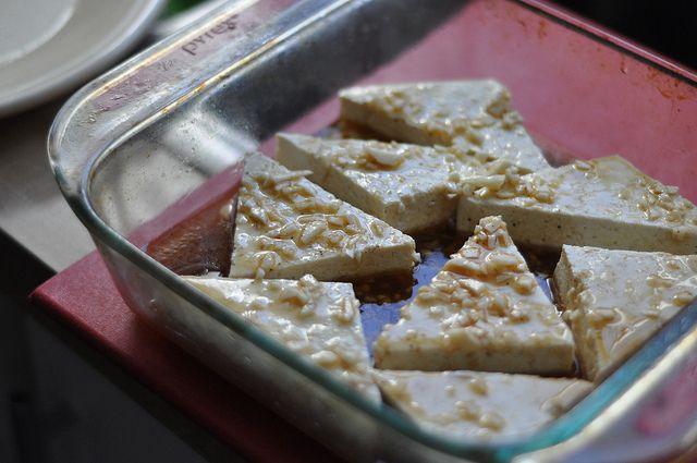 Baked sesame garlic tofu with lemon. | Meals | Pinterest