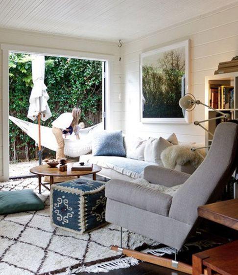 Casual Living Room Blue Khaki Pinterest