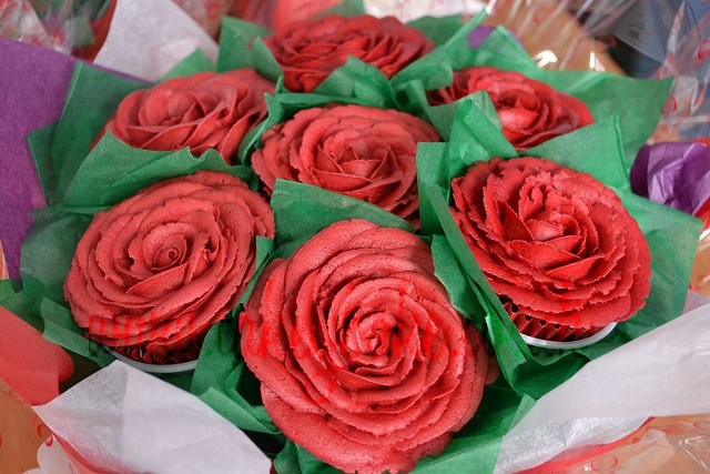 valentine's day cupcakes bouquet