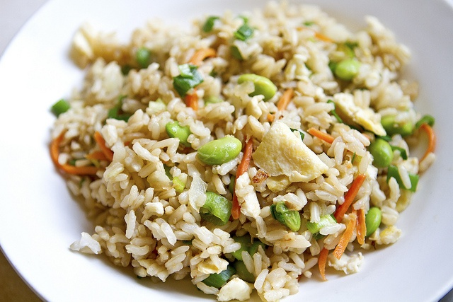 Asian Edamame Fried Rice Recipe — Dishmaps