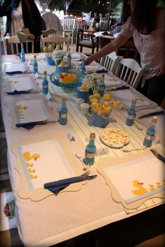 cute baby shower luncheon table give her a baby shower pinte