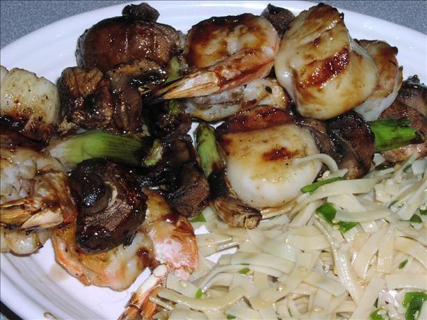 Teriyaki Shrimp and Scallop Kebabs | Recipe
