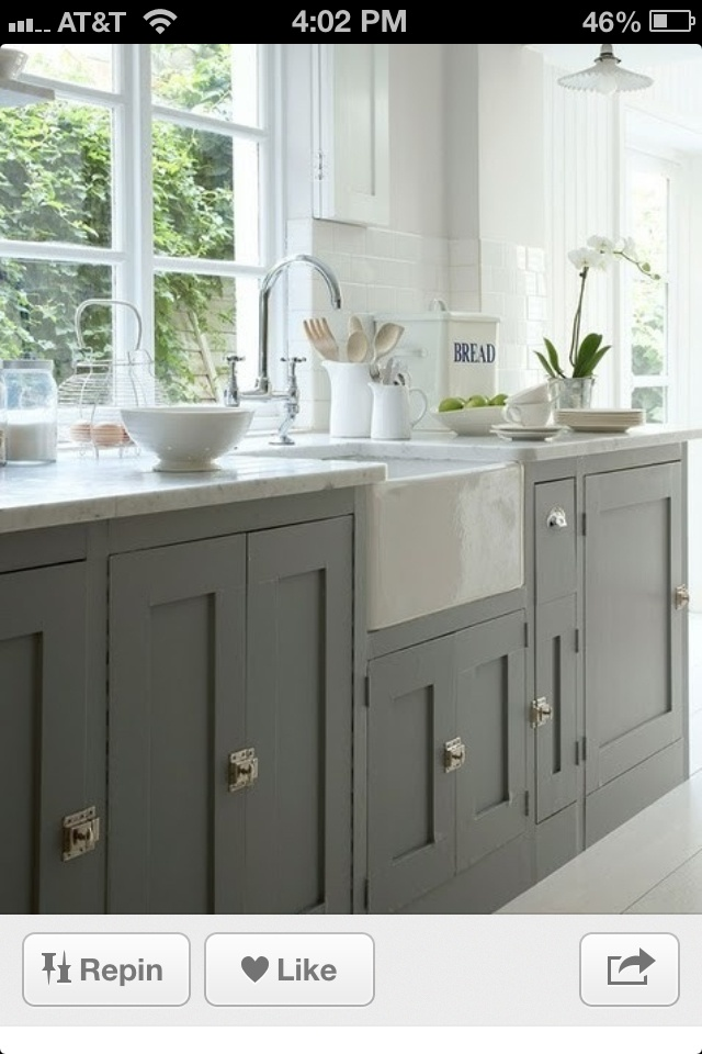 Love cabinet color and sink