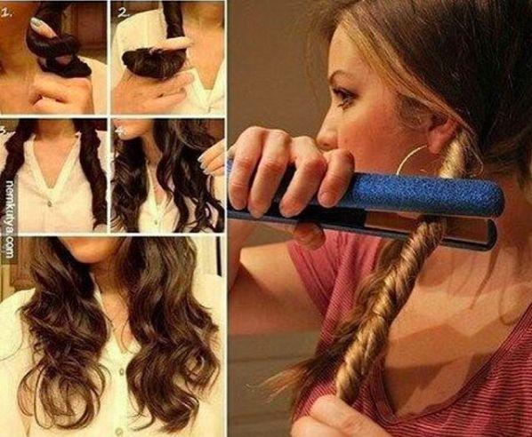 Как можно сделать себе кудряшки на волосах 612
