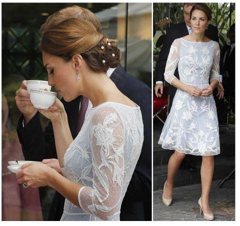 Catherine has chosen amazing dress by Temperley London.