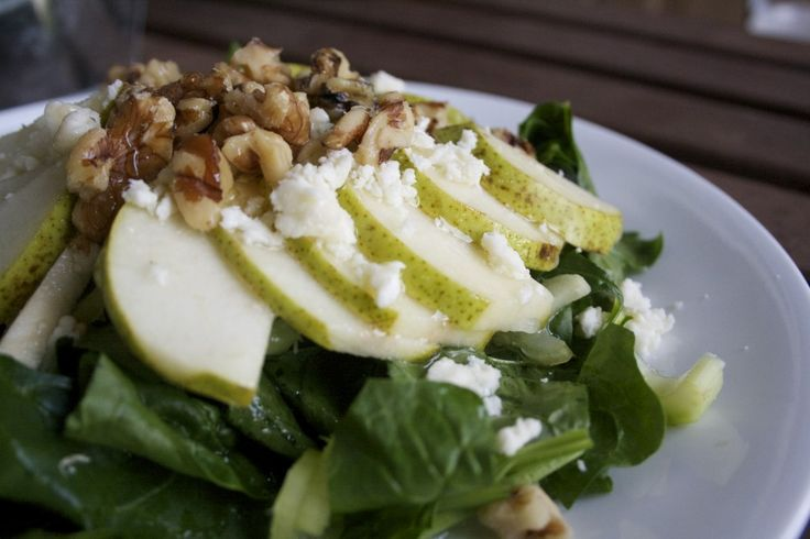 pear and spinach salad | Super Salads | Pinterest
