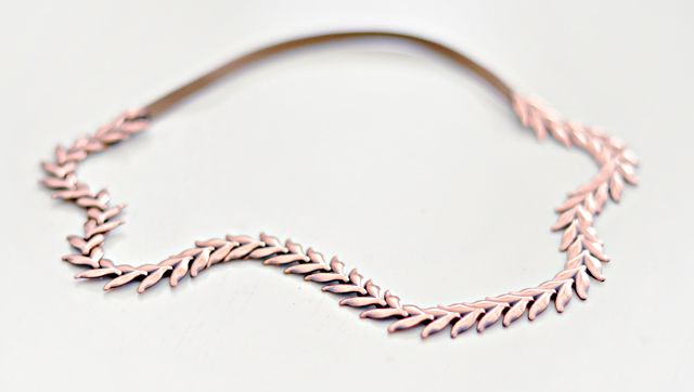 easy necklace to headband.