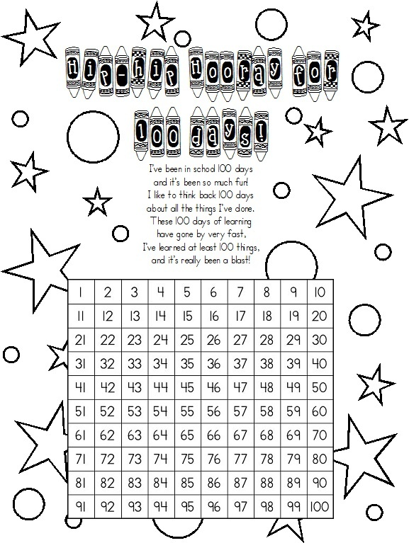 100th day scavenger hunt--I put numbers 1-100 on colored, removable ...