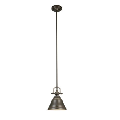 allen roth bronze mini pendant light with metal shade. Black Bedroom Furniture Sets. Home Design Ideas