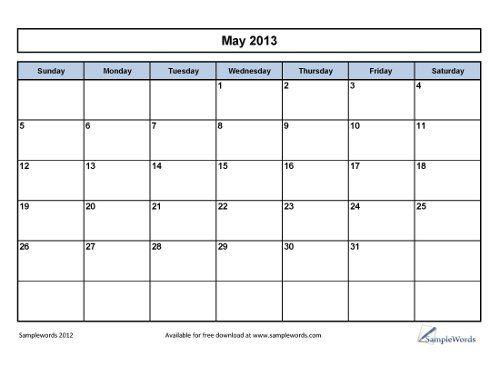planner maio 2013 2 | para imprimir | Pinterest