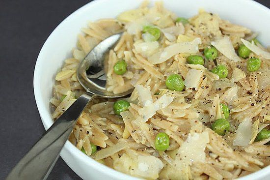 Whole Wheat Orzo With Artichokes: Artichokes and peas are a ...