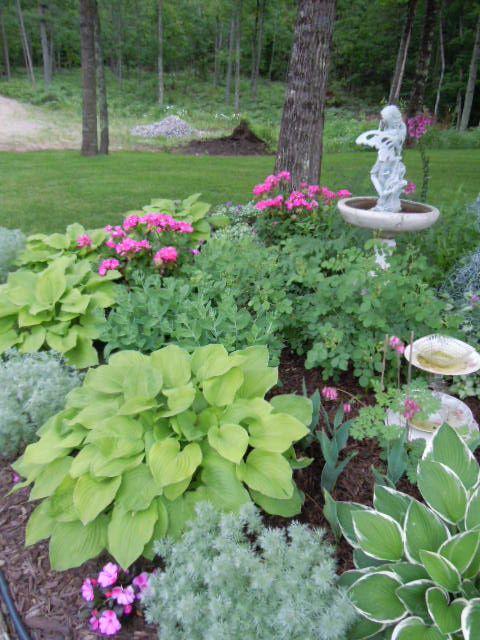 Partial shade garden ideas photograph part sun shade garde for Part shade garden designs