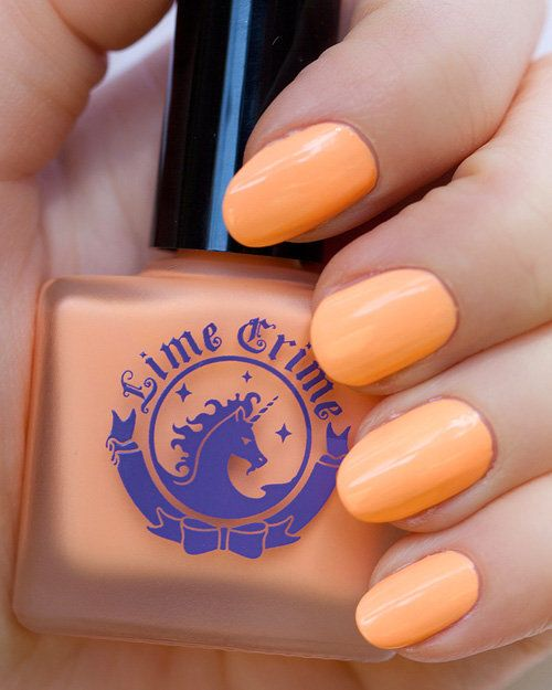 CREAM pastel orange nail polish http://shop.wigsbuy.com/Custom-Front-Lace-Wig-101789/