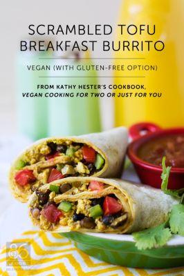 Scramble Tofu Breakfast Burrito | Diabetic Vegetarian | Pinterest