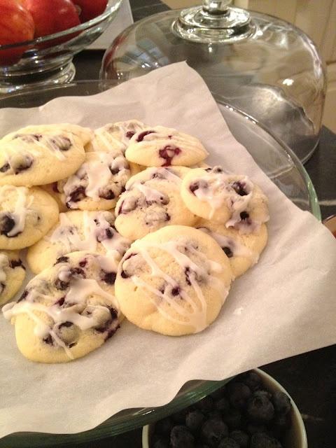 Glazed Lemon Blueberry Cookies | Yummy Snacks and Desserts! | Pintere ...