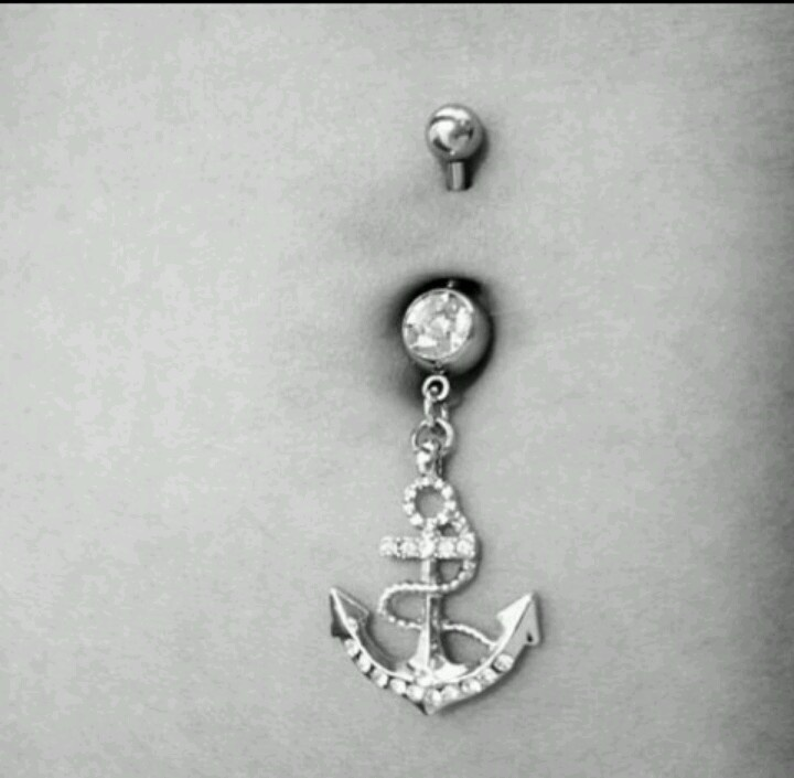 anchor belly button ring so cute belly rings pinterest