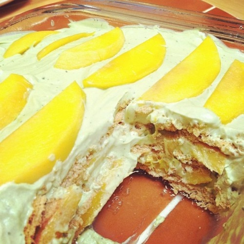 GREEN TEA MANGO ICEBOX CAKE | onli™ Green Tea Lemongrass Mango ...
