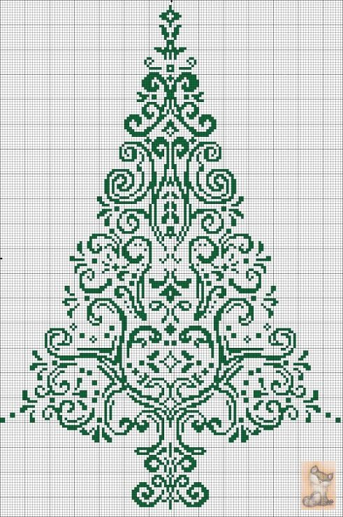 AAN CROSS STITCH albero di natale