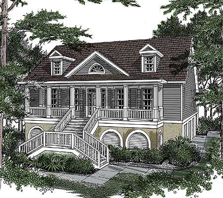 Distinctive Low Country Home Plan