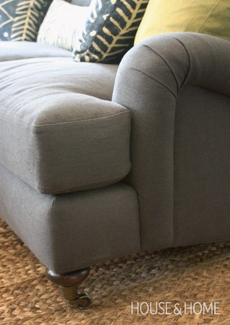 English Roll Arm Sofa House & Home Sofas