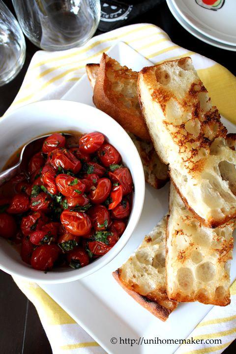 Roasted Tomato Bruschetta   Foodie   Pinterest