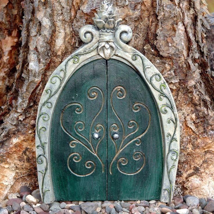 Enchanted fairy door art school sculpture pinterest for Painted fairy doors