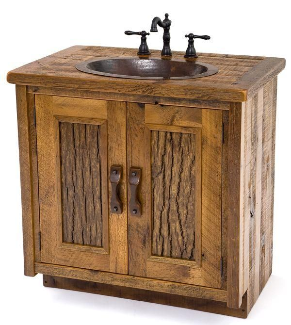 perfect bathroom sink for my log cabin!
