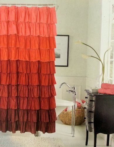 My new anthropologie inspired ruffled shower curtain got it for 17