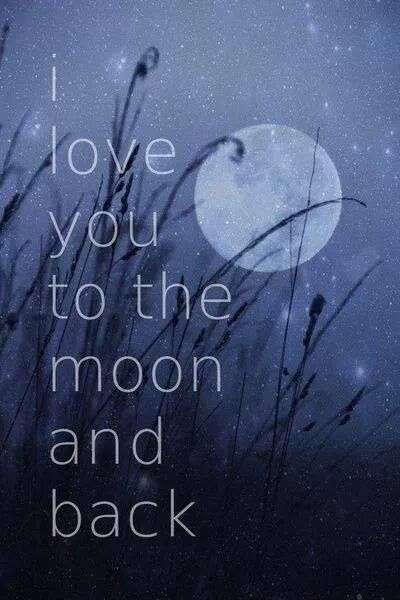 Love You To The Moon And Back Sayings Pinterest