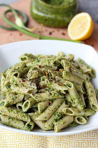 Garlic Scape and Swiss Chard Pesto - Gluten-free & Vegan by Tasty ...