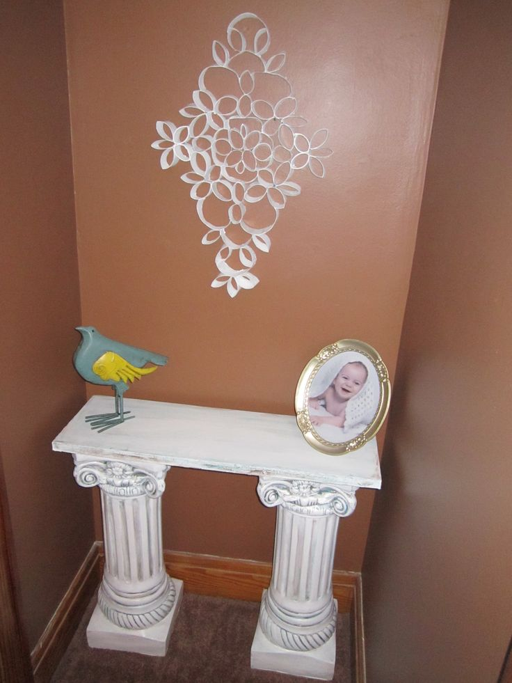 Diy table from columns columns and pillars pinterest for Table column