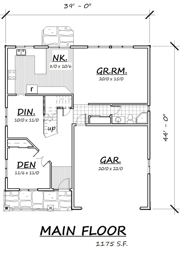 2013a main floor plan plans amp elevations pinterest