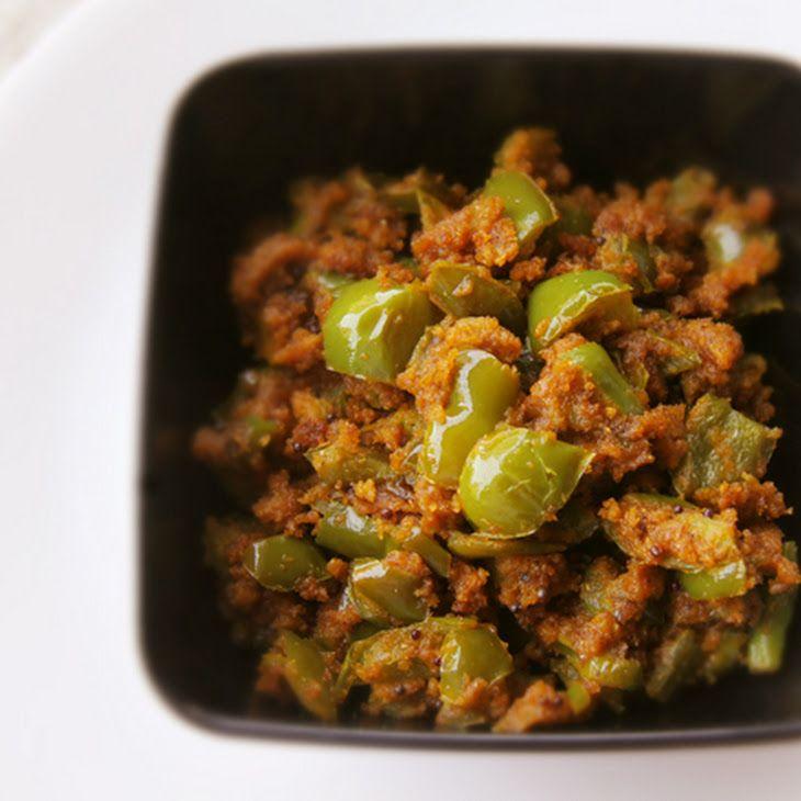 ... Besan Sabji (Stir-Fried Bell Pepper and Chickpea Flour Stir-Fry