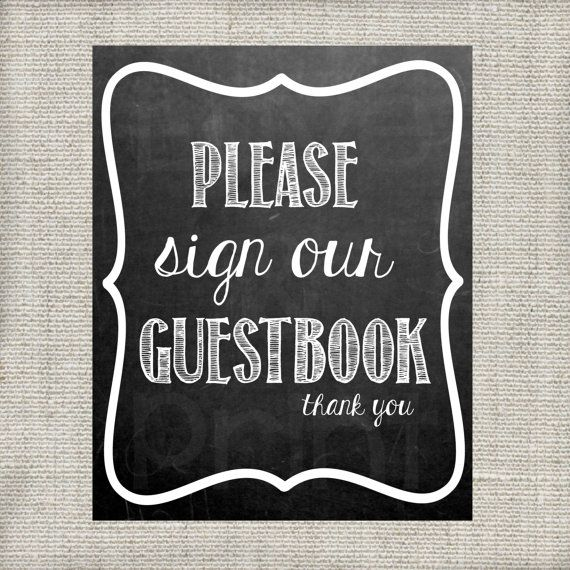 Please sign our guestbook wedding chalkboard by loveandprint 4 00