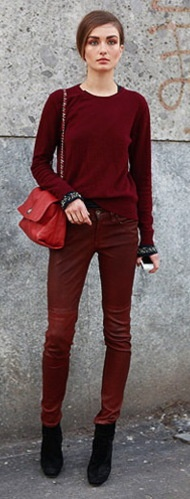color obsession: oxblood red pants
