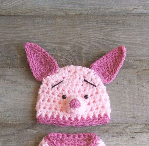 Crochet Piglet hat Crochet Pinterest
